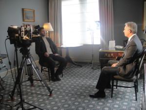 KT interviewing Tony Blair.
